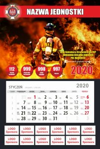 Kalendarz z wyrywką sponsorzy