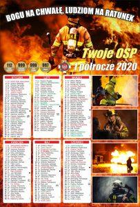 Kalendarz strażacki dwustronny