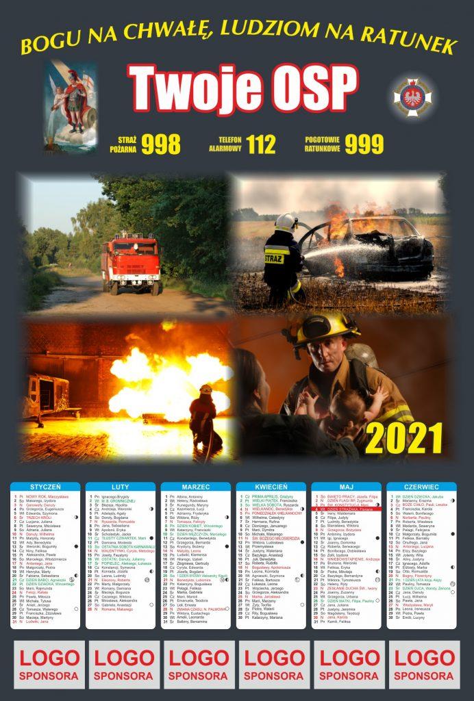 Kalendarz strażacki dwustronny 2021