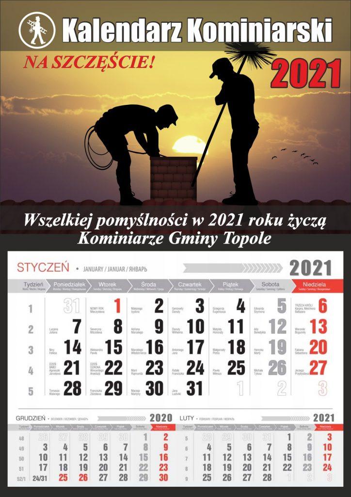 Kalendarz kominiarski z wyrywką